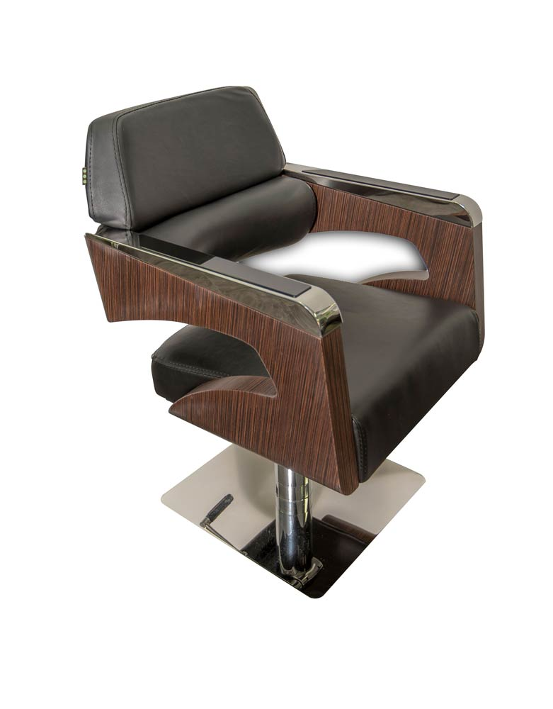 Dark Wood Monarch Salon Styling Chair by SEC- Clearance
