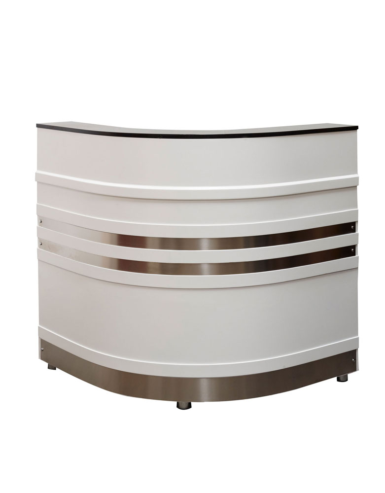 Galaxy Curved Salon Reception Desk by Premier Gold - Clearance