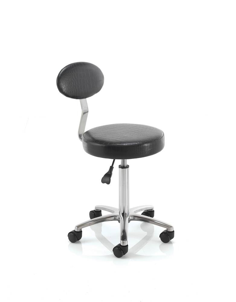 Salon Stool with Backrest by REM