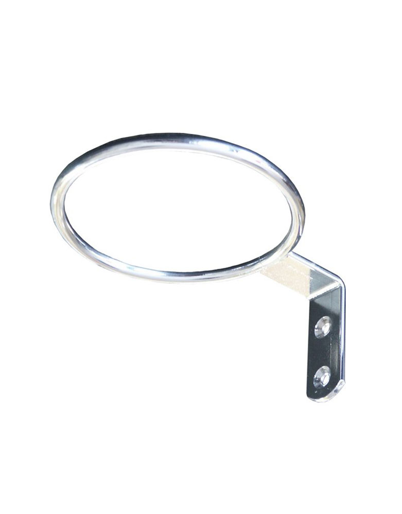 Chrome Ring Salon Dryer Holder