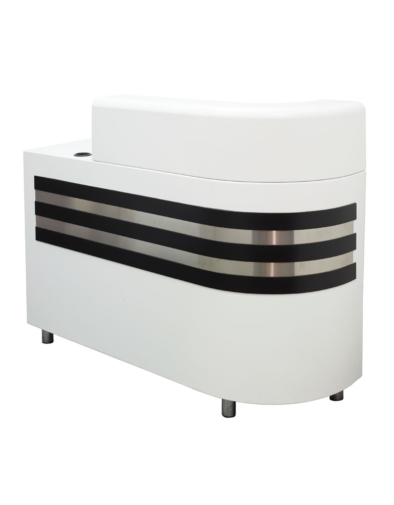 White Highgrove Salon Reception Desk by Premier