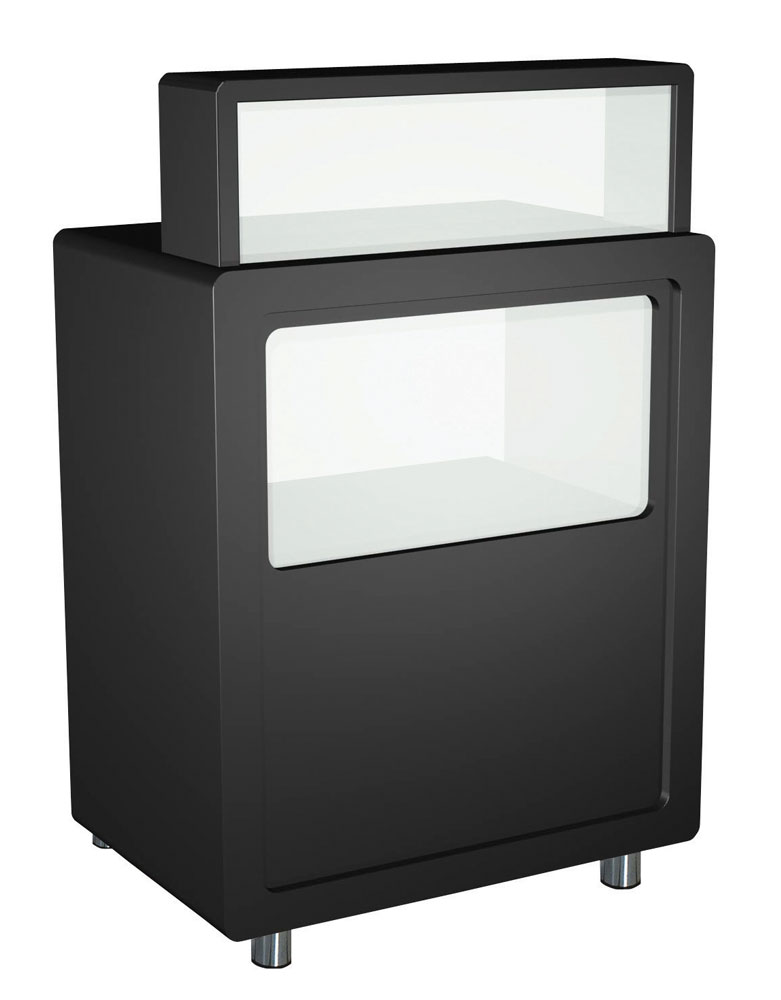 Black Charm Salon Reception Desk by Premier