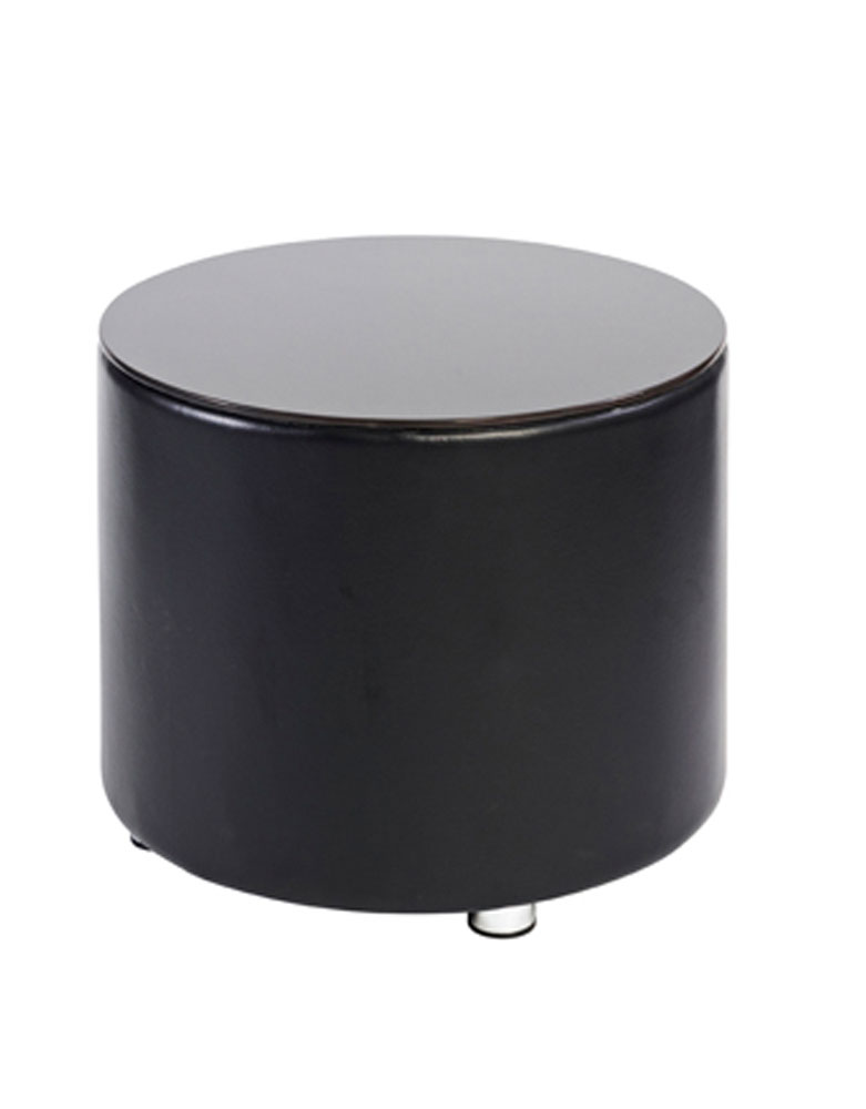 Black Richmond Round Salon Coffee Table by Premier
