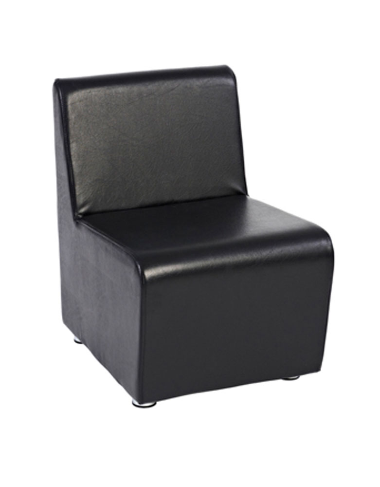 Black Richmond Straight Salon Waiting Seat by SEC