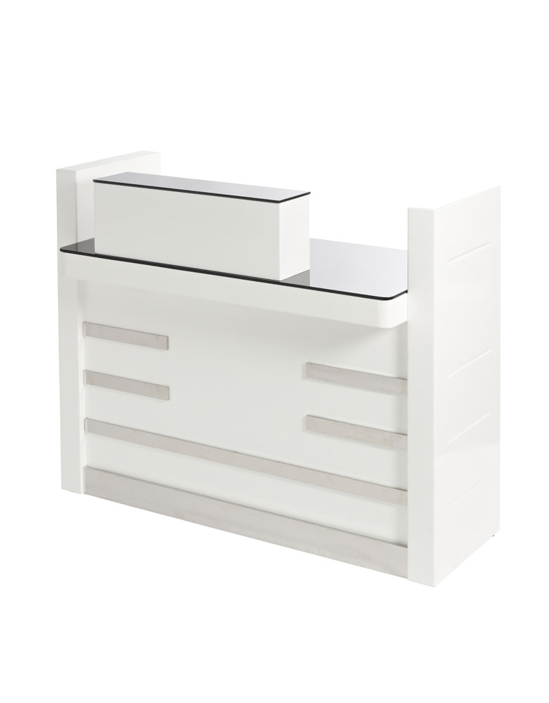 White Windsor Salon Reception Desk by Premier