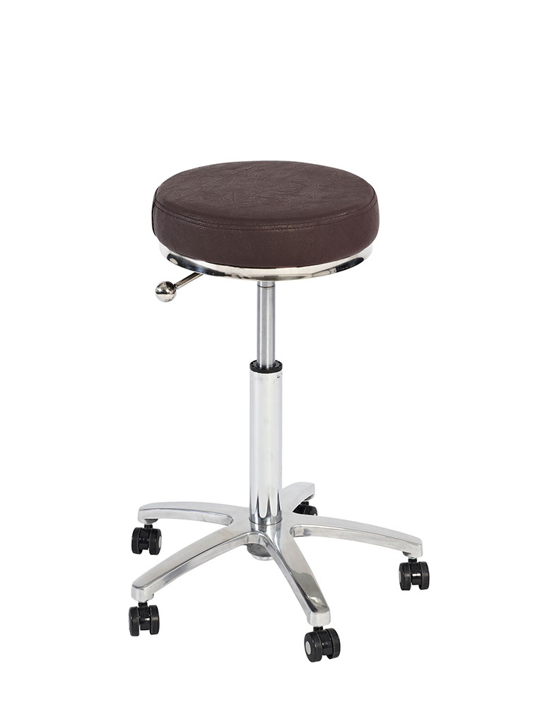 Brown Padded Salon Stool by Premier