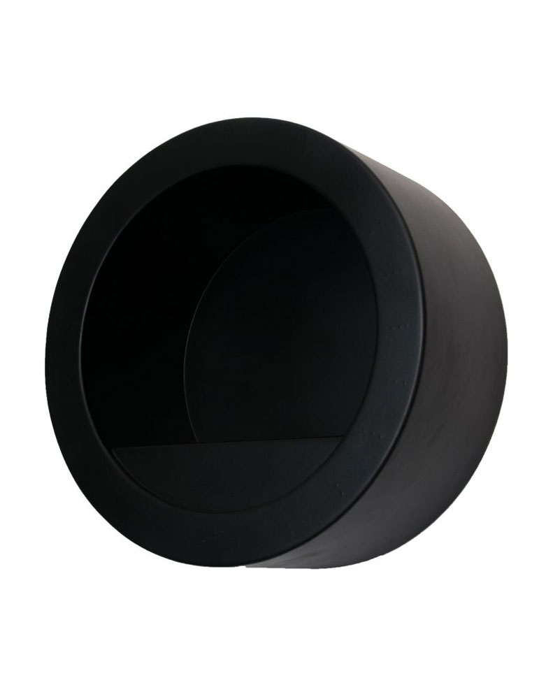 Black Round Salon Towel Holder by Premier