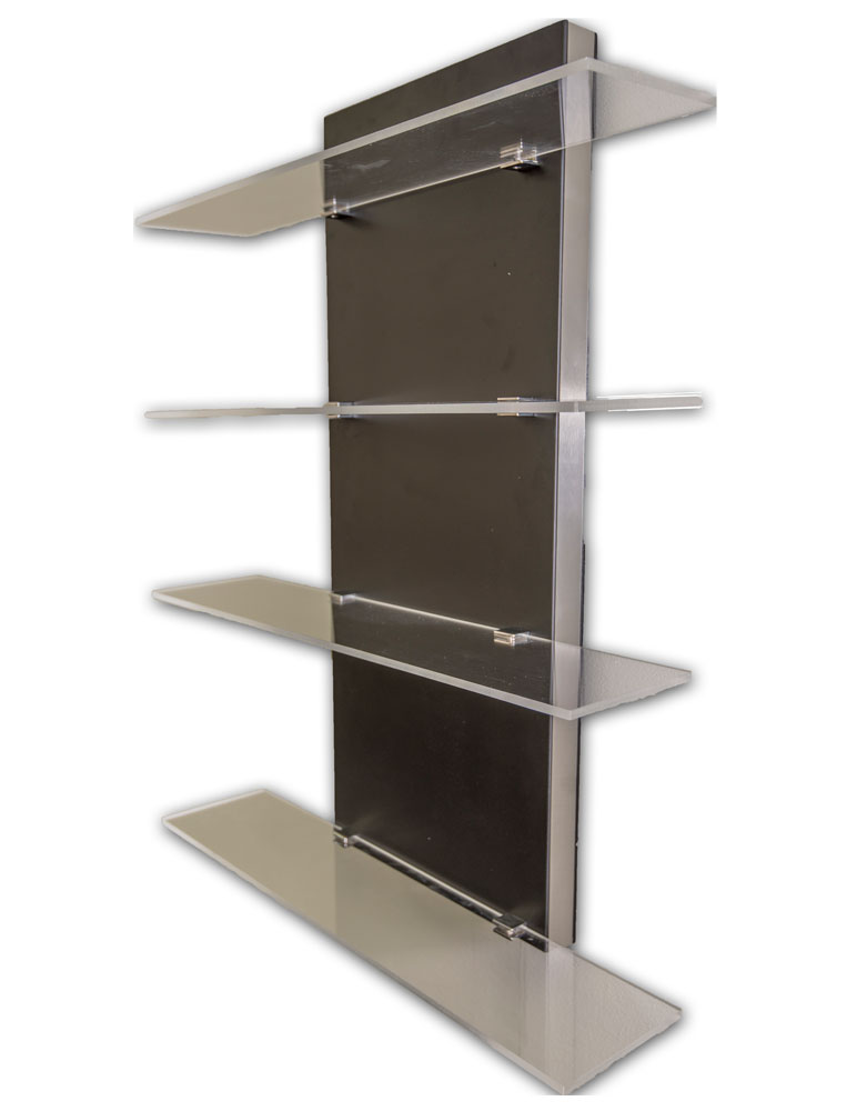 Black Aston Salon Display Shelves by BEC
