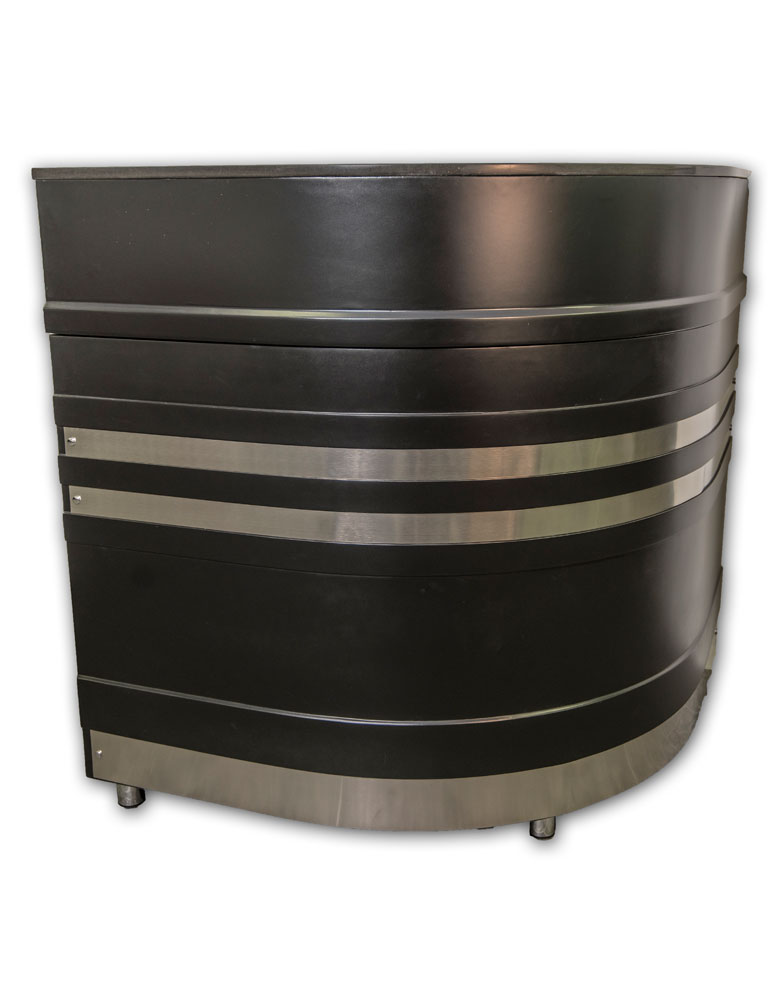 Black Galaxy Salon Reception Desk by Premier
