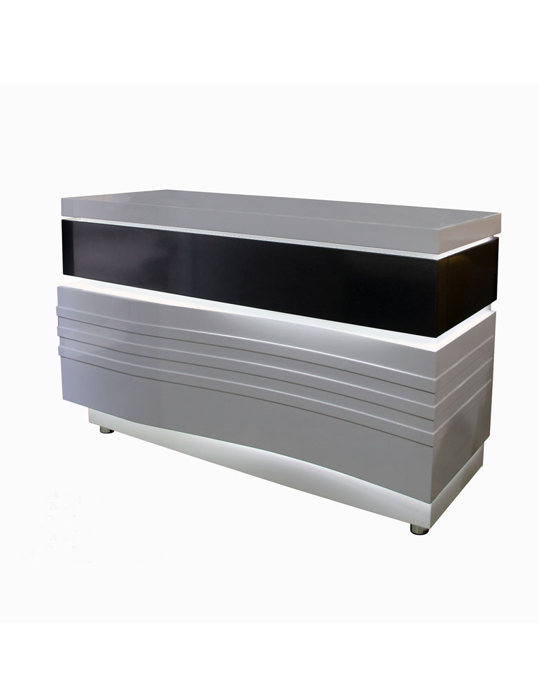 White Pulse Salon Reception Desk by SEC- Clearance