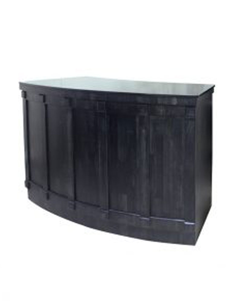 Black Classic Salon Reception Desk by Premier