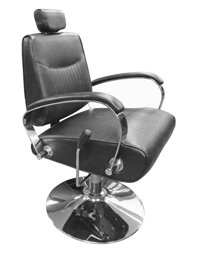 Black Miami Reclining Salon Chair by SEC