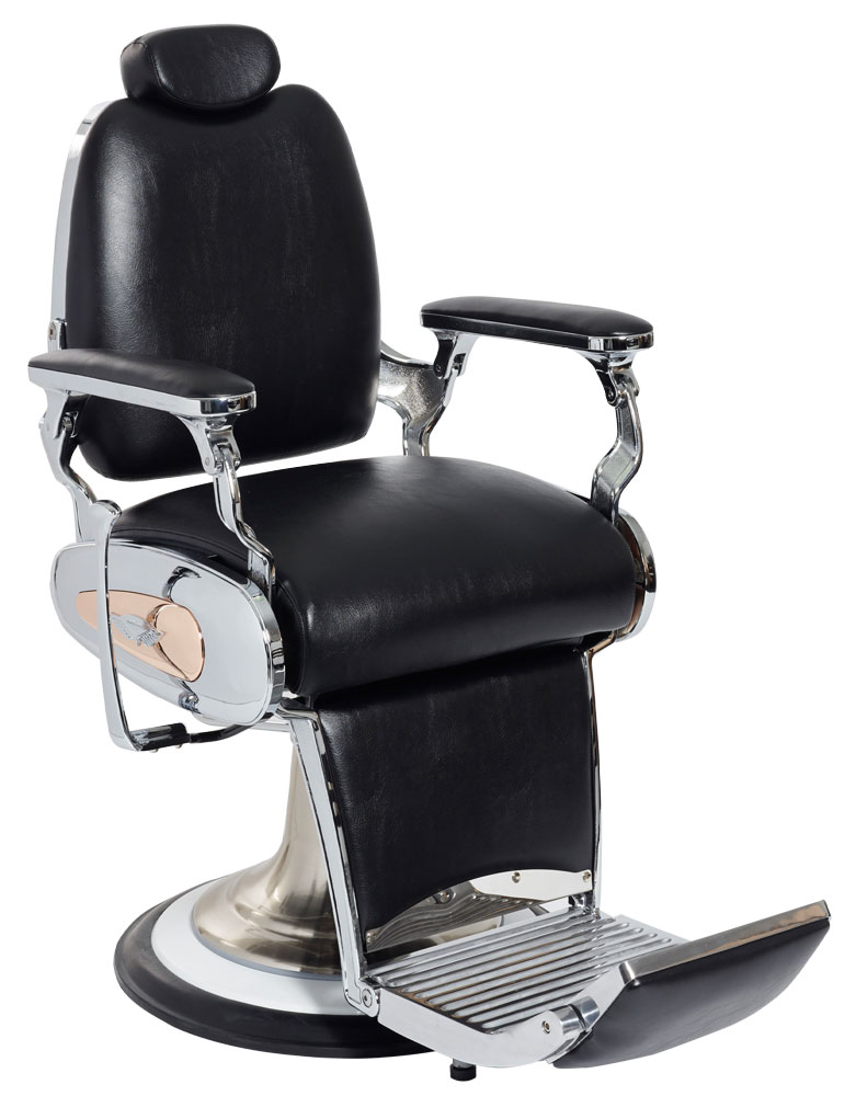 Black Legion Barber Chair by Premier Gold - Clearance