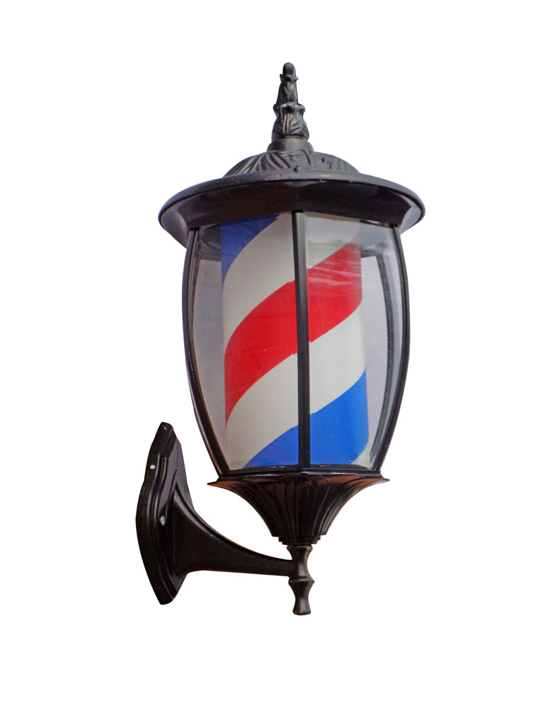 Porch Light Barber Pole by BEC