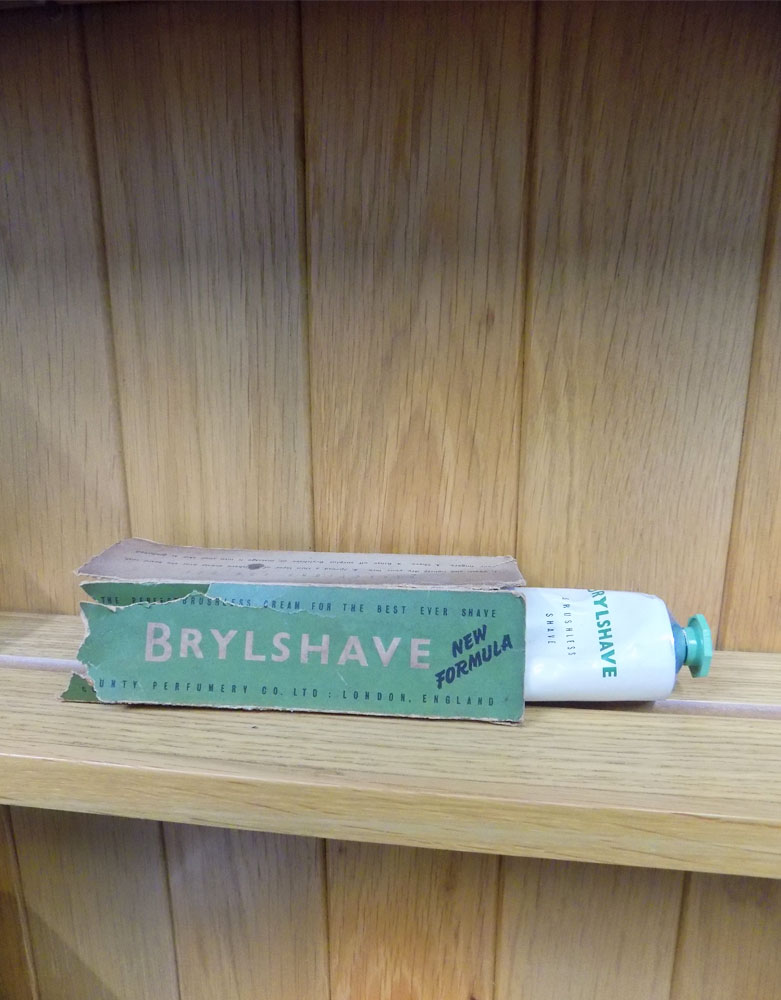 Vintage Original box and tube of  Brylshave Cream  VIN35D