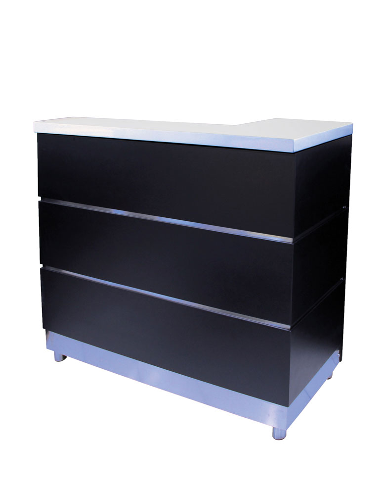 Black Lotus Salon Reception Desk by Premier