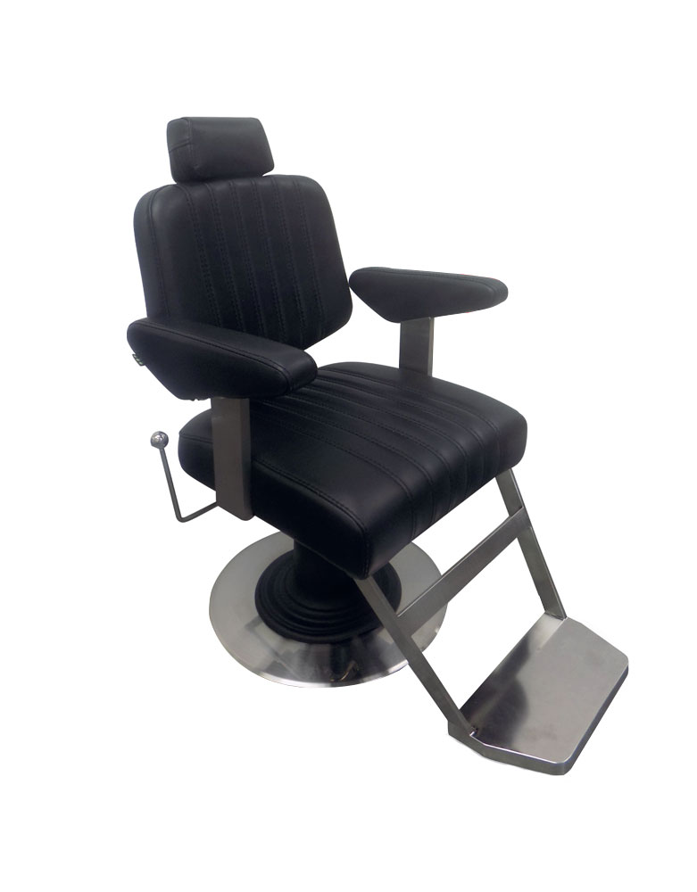 Black Chevron Barber Chair by BEC - Clearance