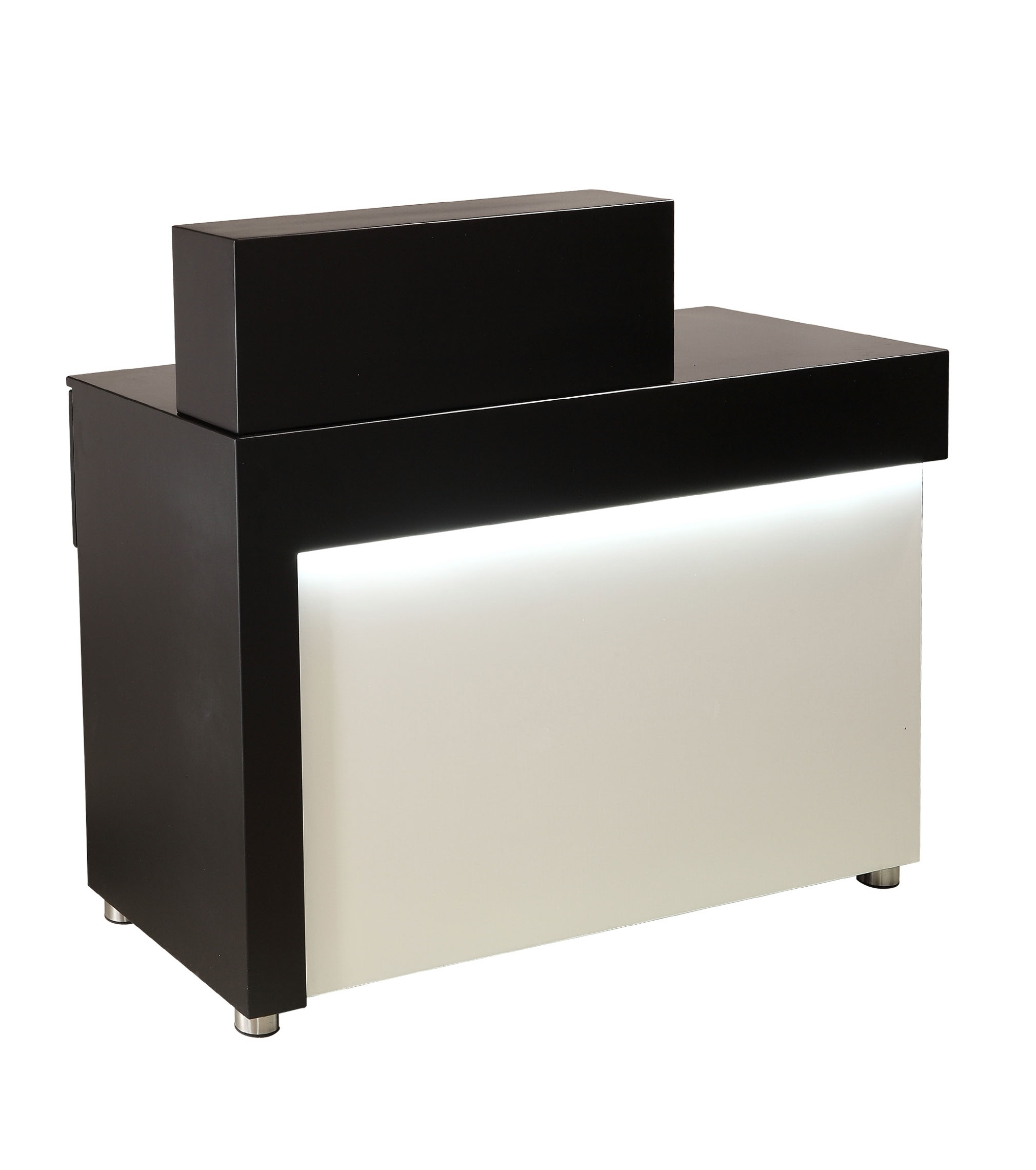 Black/White Brooklyn Salon Reception Desk by Premier