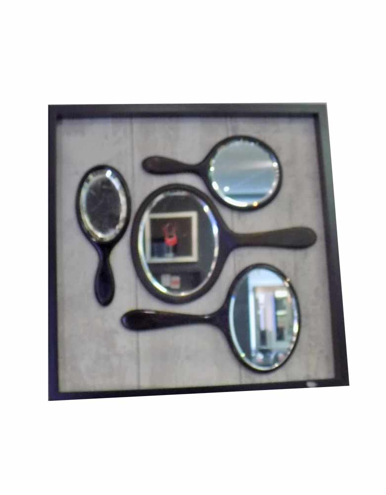 Vintage Hand Mirrors framed into a picture - VIN183A