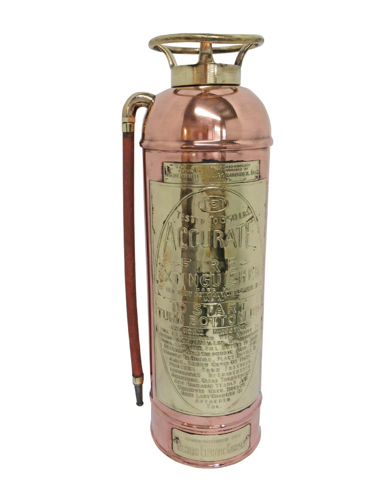 VIN254B Vintage Brass Fire Extinguisher
