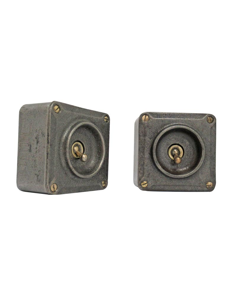 Vintage Industrial Light Switches. Steel and Brass.  VIN256A