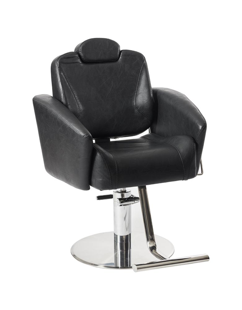 Black Adelphi Reclining Salon Styling Chair by SEC- Clearance