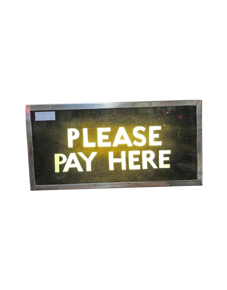 VIN288D Light Up Pay Here Sign