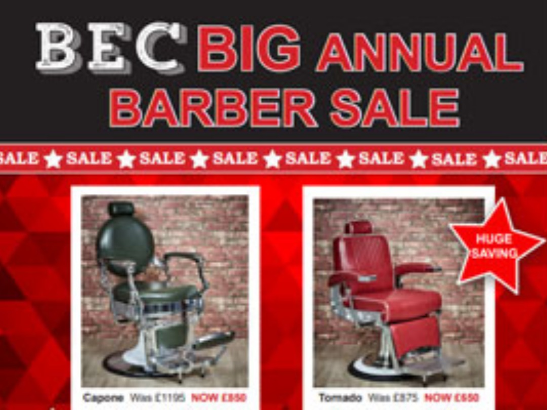 BIG ANNUAL BARBER SALE