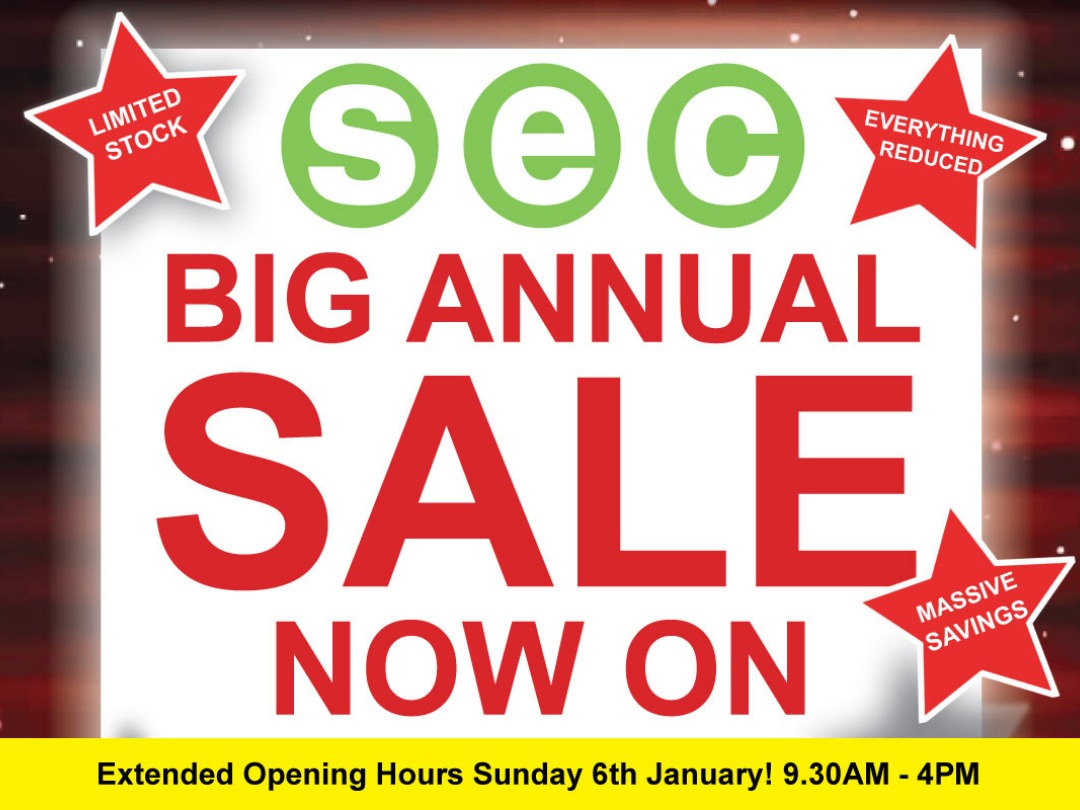 SEC BIG ANNUAL SALE NOW ON