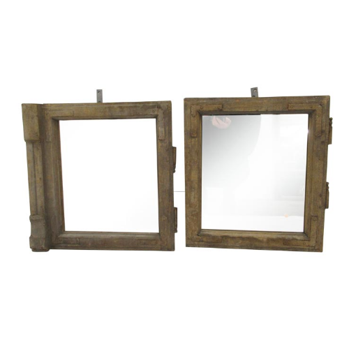 Vintage Old Wooden Mirrored Windows VIN27P