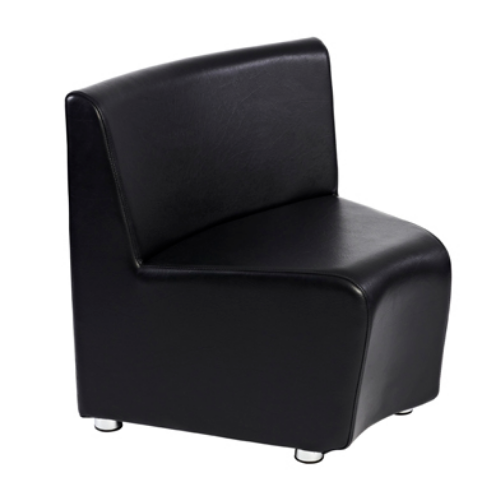 Black Richmond Curved Salon Waiting Seat by Premier