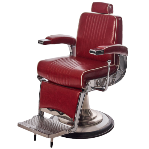 Red Tornado Barber Chair by Premier Gold