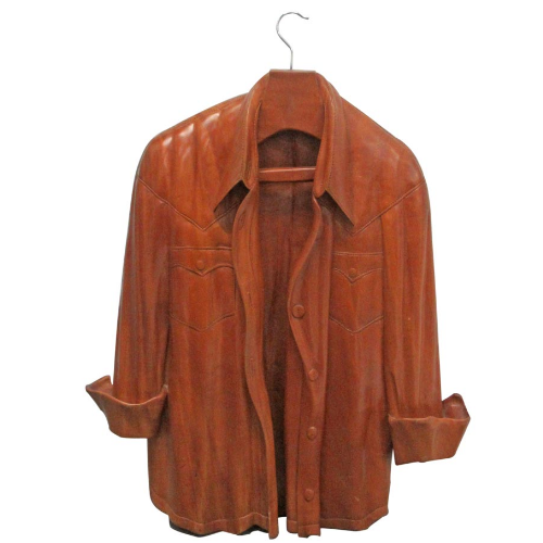 Vintage Hand Carved Wooden Jacket Sculpture  VIN233A