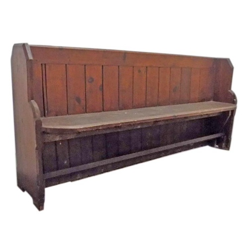 Vintage -  Large Original Wood Church Pew VIN44A