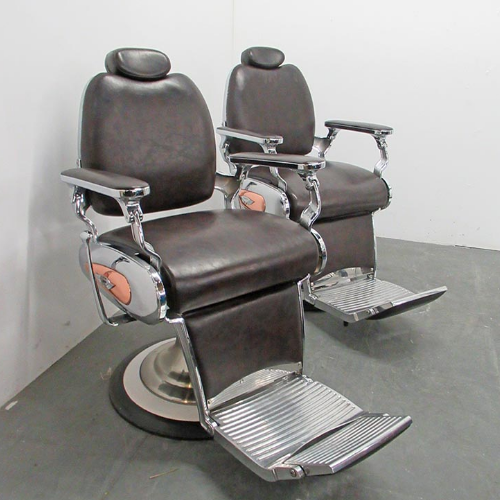 Brown Legion Barber Chair by Premier Gold - Clearance