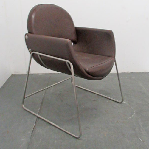 Used Brown Salon Waiting Chair - BE81C