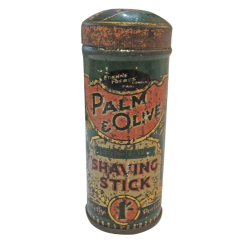 Vintage Palm & Olive Shaving Stick Holder .- VIN315C