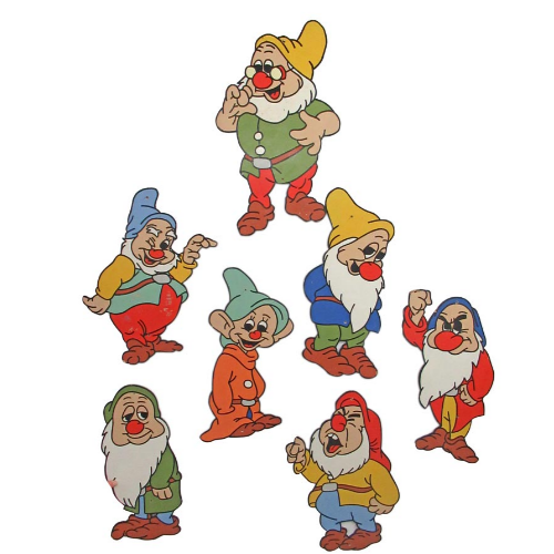 Vintage Group of Seven Dwarfs wall plaques. - VIN206G