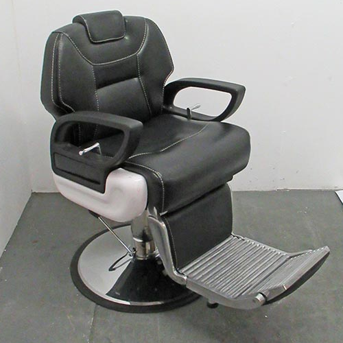 Used Black Shadow Barber Chair by Premier - BE47A