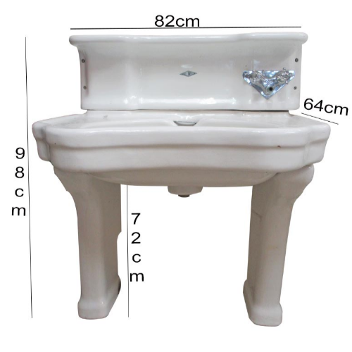 Vintage Antique Sink & Pedestal - VIN250C.1