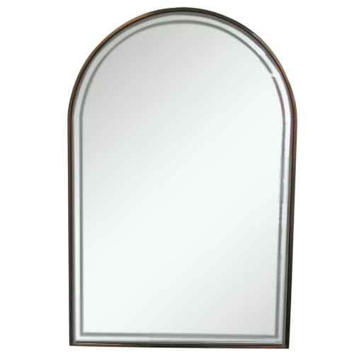 Copper Canterbury Arch Salon Mirror by Premier