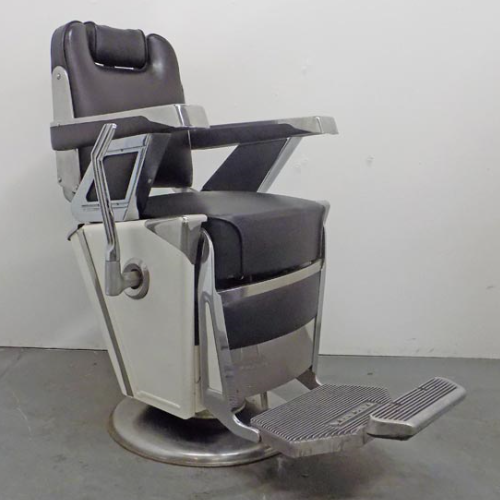 Vintage 1957  Black Belmont Barber Chair VIN250B(1)