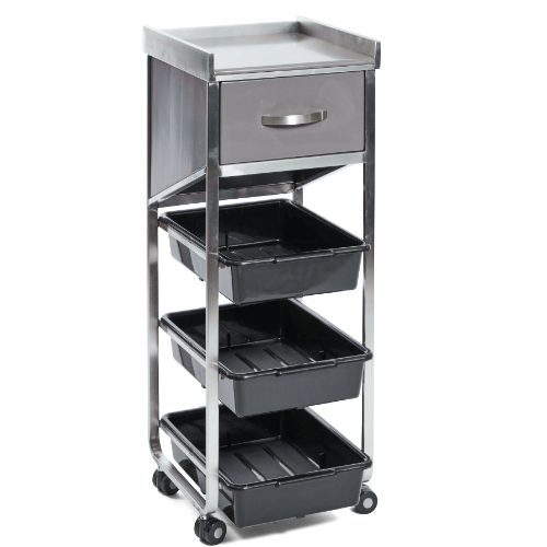 Dark Grey Academy Salon Trolley by SEC