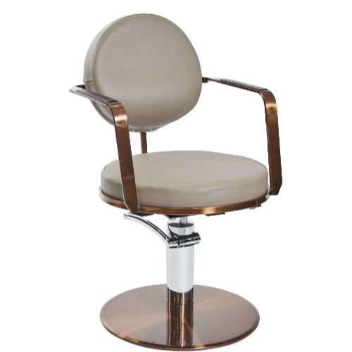 Copper Canterbury Round Salon Styling Chair by SEC