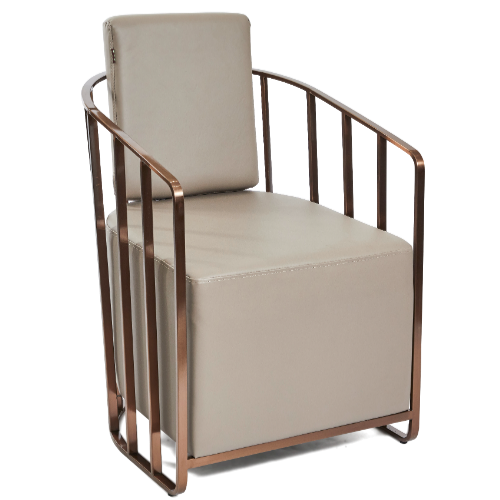 Copper Canterbury Cage Salon Waiting Seat by SEC