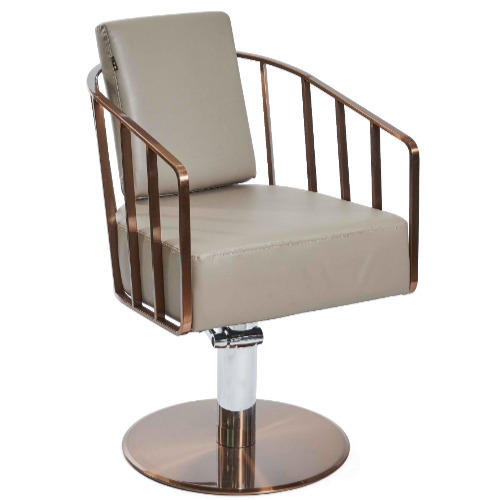 Copper Canterbury Caged Salon Styling Chair by SEC