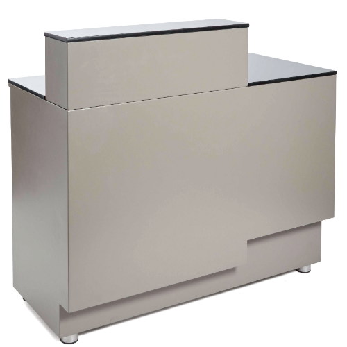 Warm Grey Canterbury Salon Reception Desk by Premier
