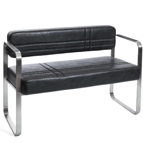 Black Manhattan Salon Waiting Seat by BEC