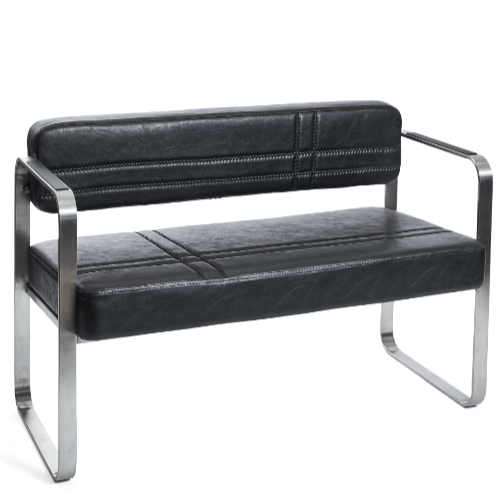 Black Manhattan Salon Waiting Seat by SEC