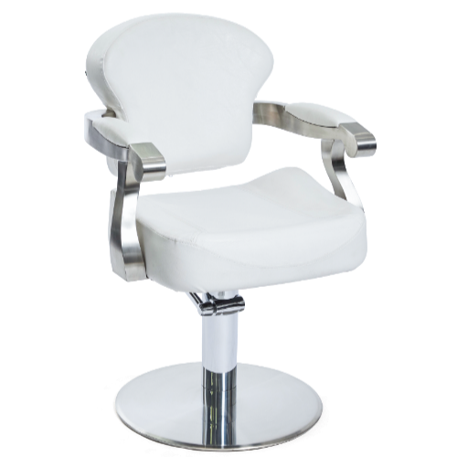 White Michigan Salon Styling Chair by SEC